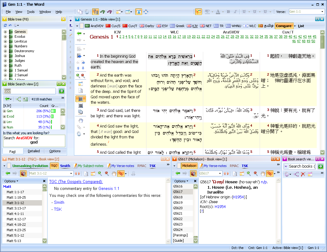 Bible Study Software theWord - Screenshots: take a look at how it looks